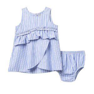 Habitual Amanda Stripe Ruffle Dress